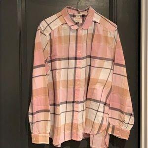 LOFT plaid shirt